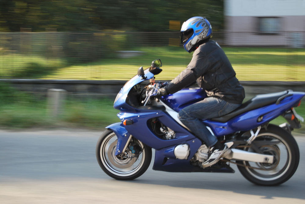 Panning shot of a motorcycle